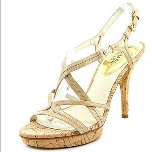 Michael Kors Shoes - Nude MK strappy leather sandals